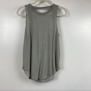 NWT Sz medium Chaser gray knitted draped back tank